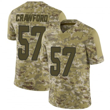 Youth Nike Miami Dolphins James Crawford Camo 2018 Salute to Service Jersey - Limited