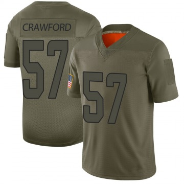 Youth Nike Miami Dolphins James Crawford Camo 2019 Salute to Service Jersey - Limited