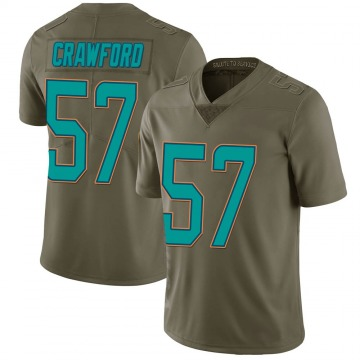 Youth Nike Miami Dolphins James Crawford Green 2017 Salute to Service Jersey - Limited