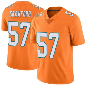 Youth Nike Miami Dolphins James Crawford Orange Color Rush Jersey - Limited