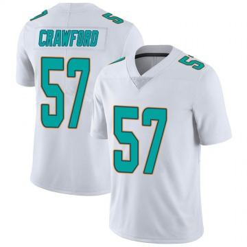 Youth Nike Miami Dolphins James Crawford White limited Vapor Untouchable Jersey -