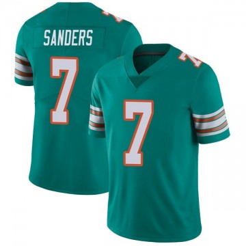 Youth Nike Miami Dolphins Jason Sanders Aqua Alternate Vapor Untouchable Jersey - Limited