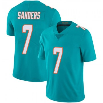 Youth Nike Miami Dolphins Jason Sanders Aqua Team Color 100th Vapor Untouchable Jersey - Limited