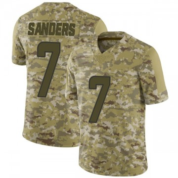 Youth Nike Miami Dolphins Jason Sanders Camo 2018 Salute to Service Jersey - Limited