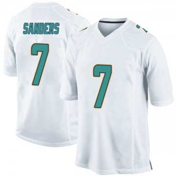 Youth Nike Miami Dolphins Jason Sanders White Jersey - Game