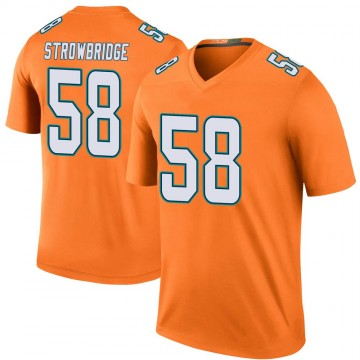Youth Nike Miami Dolphins Jason Strowbridge Orange Color Rush Jersey - Legend