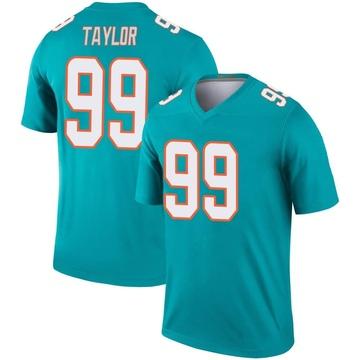 Youth Nike Miami Dolphins Jason Taylor Aqua Jersey - Legend