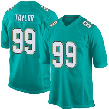 Youth Nike Miami Dolphins Jason Taylor Aqua Team Color Jersey - Game