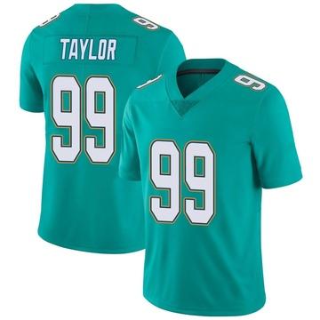 Youth Nike Miami Dolphins Jason Taylor Aqua Team Color Vapor Untouchable Jersey - Limited
