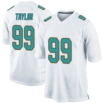 Youth Nike Miami Dolphins Jason Taylor White Jersey - Game