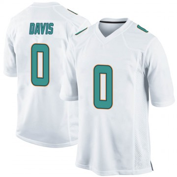 Youth Nike Miami Dolphins Javaris Davis White Jersey - Game