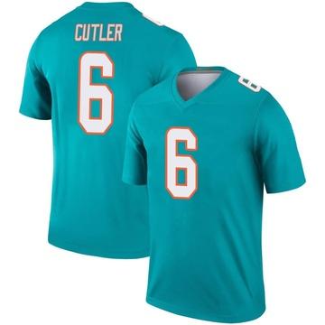 Youth Nike Miami Dolphins Jay Cutler Aqua Jersey - Legend