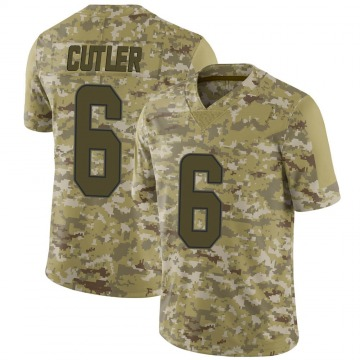 Youth Nike Miami Dolphins Jay Cutler Camo 2018 Salute to Service Jersey - Limited