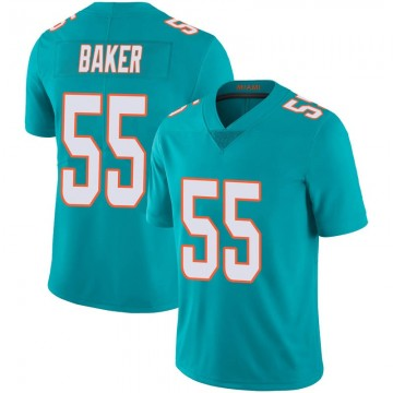 Youth Nike Miami Dolphins Jerome Baker Aqua Team Color 100th Vapor Untouchable Jersey - Limited