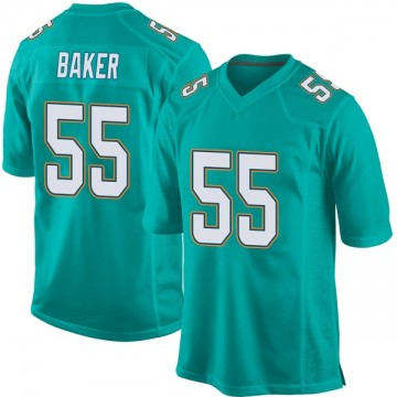 Youth Nike Miami Dolphins Jerome Baker Aqua Team Color Jersey - Game