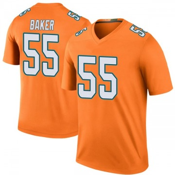 Youth Nike Miami Dolphins Jerome Baker Orange Color Rush Jersey - Legend