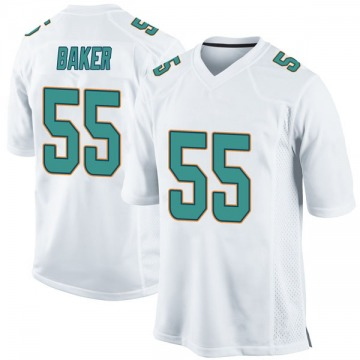 Youth Nike Miami Dolphins Jerome Baker White Jersey - Game