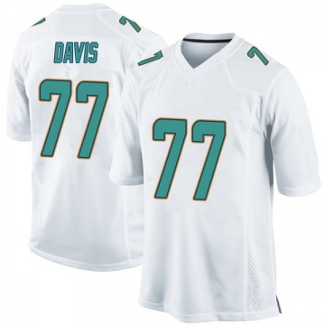 Youth Nike Miami Dolphins Jesse Davis White Jersey - Game