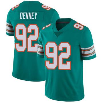 Youth Nike Miami Dolphins John Denney Aqua Alternate Vapor Untouchable Jersey - Limited