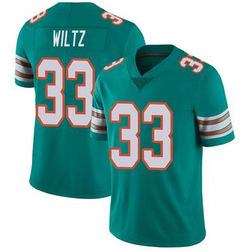 Youth Nike Miami Dolphins Jomal Wiltz Aqua Alternate Vapor Untouchable Jersey - Limited