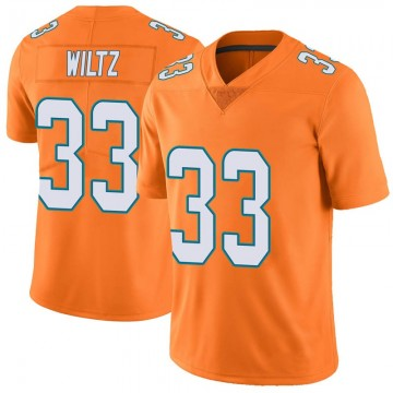 Youth Nike Miami Dolphins Jomal Wiltz Orange Color Rush Jersey - Limited