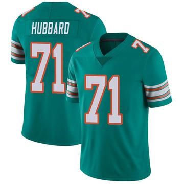 Youth Nike Miami Dolphins Jonathan Hubbard Aqua Alternate Vapor Untouchable Jersey - Limited