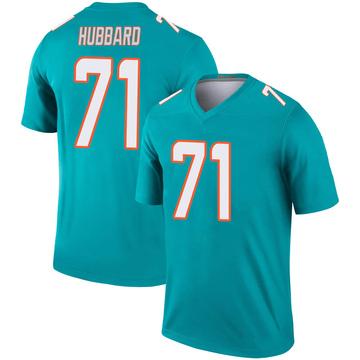 Youth Nike Miami Dolphins Jonathan Hubbard Aqua Jersey - Legend