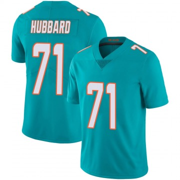 Youth Nike Miami Dolphins Jonathan Hubbard Aqua Team Color 100th Vapor Untouchable Jersey - Limited