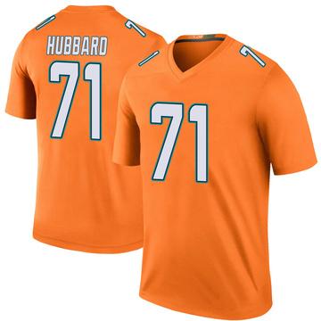 Youth Nike Miami Dolphins Jonathan Hubbard Orange Color Rush Jersey - Legend