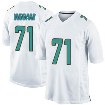 Youth Nike Miami Dolphins Jonathan Hubbard White Jersey - Game