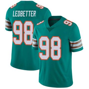 Youth Nike Miami Dolphins Jonathan Ledbetter Aqua Alternate Vapor Untouchable Jersey - Limited
