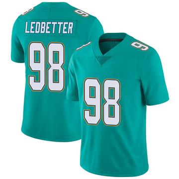 Youth Nike Miami Dolphins Jonathan Ledbetter Aqua Team Color Vapor Untouchable Jersey - Limited