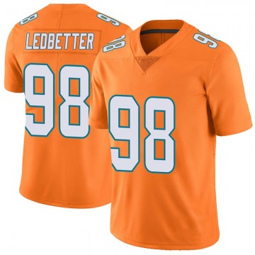 Youth Nike Miami Dolphins Jonathan Ledbetter Orange Color Rush Jersey - Limited