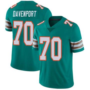 Youth Nike Miami Dolphins Julie'n Davenport Aqua Alternate Vapor Untouchable Jersey - Limited