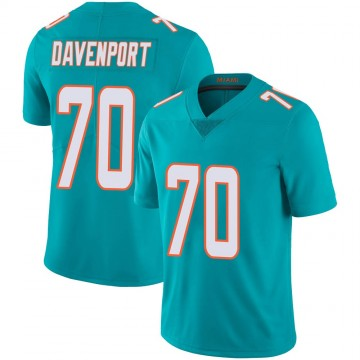 Youth Nike Miami Dolphins Julie'n Davenport Aqua Team Color 100th Vapor Untouchable Jersey - Limited