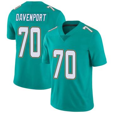 Youth Nike Miami Dolphins Julie'n Davenport Aqua Team Color Vapor Untouchable Jersey - Limited