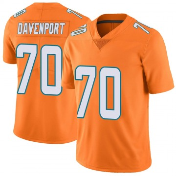 Youth Nike Miami Dolphins Julie'n Davenport Orange Color Rush Jersey - Limited