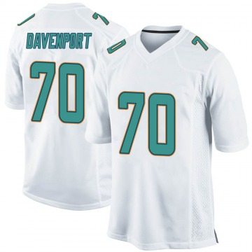 Youth Nike Miami Dolphins Julie'n Davenport White Jersey - Game
