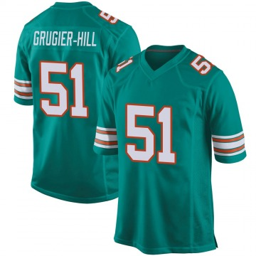 Youth Nike Miami Dolphins Kamu Grugier-Hill Aqua Alternate Jersey - Game