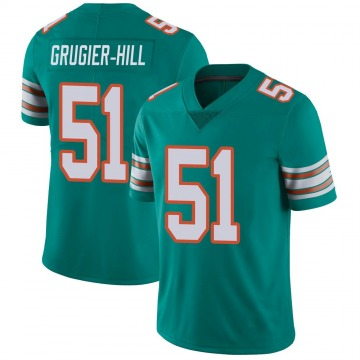 Youth Nike Miami Dolphins Kamu Grugier-Hill Aqua Alternate Vapor Untouchable Jersey - Limited