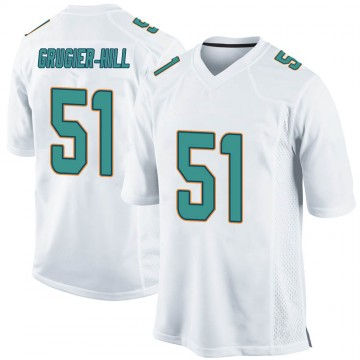Youth Nike Miami Dolphins Kamu Grugier-Hill White Jersey - Game