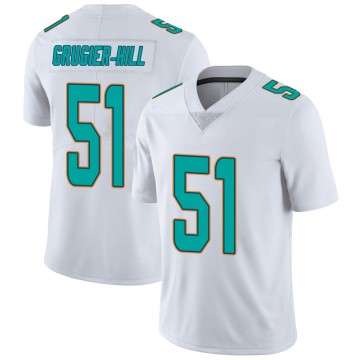 Youth Nike Miami Dolphins Kamu Grugier-Hill White limited Vapor Untouchable Jersey -
