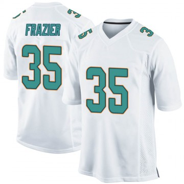 Youth Nike Miami Dolphins Kavon Frazier White Jersey - Game