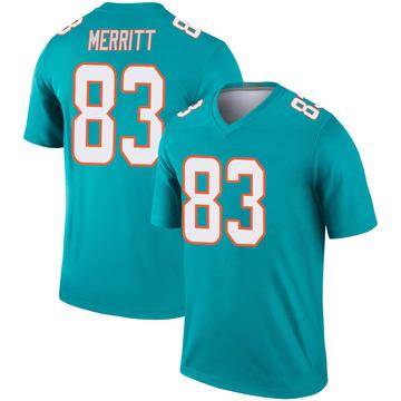 Youth Nike Miami Dolphins Kirk Merritt Aqua Jersey - Legend