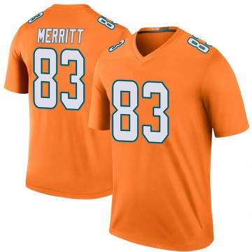 Youth Nike Miami Dolphins Kirk Merritt Orange Color Rush Jersey - Legend