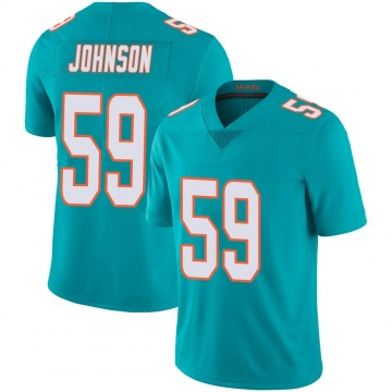 Youth Nike Miami Dolphins Kylan Johnson Aqua Team Color 100th Vapor Untouchable Jersey - Limited