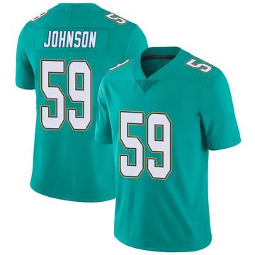 Youth Nike Miami Dolphins Kylan Johnson Aqua Team Color Vapor Untouchable Jersey - Limited