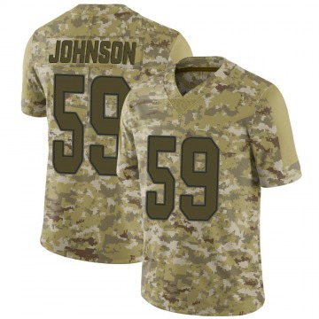 Youth Nike Miami Dolphins Kylan Johnson Camo 2018 Salute to Service Jersey - Limited