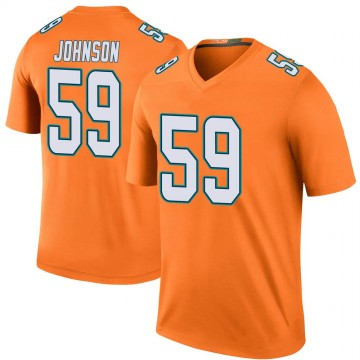 Youth Nike Miami Dolphins Kylan Johnson Orange Color Rush Jersey - Legend