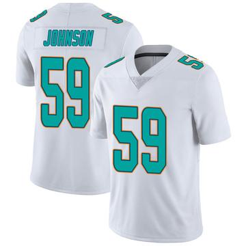 Youth Nike Miami Dolphins Kylan Johnson White limited Vapor Untouchable Jersey -
